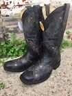 Corral Men's Black On Black Eagle/Southern Cross Overlay Square Toe Boots A3372