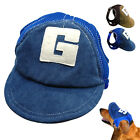 Breathable Dog Hats For Pets Cute Summer Baseball Sun Cap With Ear Holes