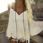 Tops Blouses - Fashion Women Summer Vest Top Long Sleeve Casual Shirt Tops Blouse Tank Tshirt