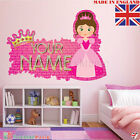 Princess 01 PERSONALISED NAME  Children Room Wall Sticker Decal Fabric  Vinyl UK