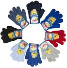 Boys Gloves Pokemon Pikachu Knit Winter Mittens Knitted One Size 3 to 12 Years