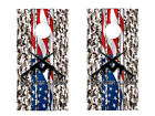 FGD® Brand Cornhole Wrap Set 2nd Amendment Molon Labe Camo LAMINATED Vinyl Decal
