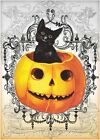 Halloween Black Cat Pumpkin Collage Quilt Block Multi Sz FrEE ShiP WoRldWiDE (H1