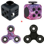 Finertip Fidget Spinner + Puzzle Cube Square Anxiety Relief Adult EDC Desk Focus