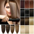 "Deluxe 16-18-20-22"" Clip In Remy Human Hair Extensions One Piece DIY WEFT UK Y45"