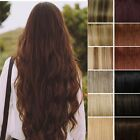 100% Real Deluxe Clip in Remy Human Hair Extensions One Piece 3/4 Full Head Y48