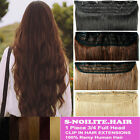 Thick 80G-130G Real Clip In REMY Human Hair Extensions One Piece UK Storage E092