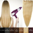 Thick 90G-150G One Piece Real Clip In REMY Human Hair Extensions UK Stock E909
