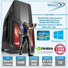 ULTRA FAST Gaming PC Quad Core i7 Computer SSD 16GB Windows 10 Intel Desktop PC
