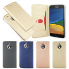 New ultrathin Card Slot Stander Flip PU Cover Case For Motorola Moto E4 Plus