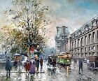 Rive Gauche Painting by Antoine Blanchard Art Print Reproduction