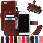 For iPhone 6 6s Plus Luxury Leather Card Wallet Flip Stand Hybrid Case Cover