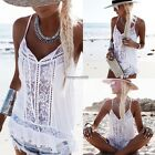 New Fashion Women Casual Spaghetti Straps Sleeveless Patchwork Lace ED01