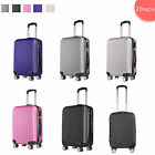 """Hard Shell Wheeled Hand Luggage Suitcase Cabin Travel Bag Spinner ABS 4 Wheel20"""""""