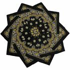 Hoodboyz Single-color Pack 10 Pcs Herren Bandana Schwarz Gold(83369)