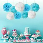 9Pcs 8'' 10'' Tissue Paper Pom Poms Ball Wedding Birthday Party Baby Room Decor