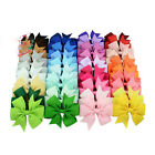 40Pcs Baby Girl Rib Ribbon Bowknot Boutique Hair Bows Teens Baby Girls Headwear