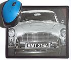 Goldfinger Sean Connery Aston Martin DB5 Classic movie Car poster Mouse Mats Pad £5.99 GBP