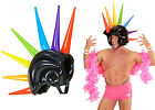 Inflatable Helmet BikerRock Mohawk Rainbow PrideMad Max Punk Blow Up Spiked