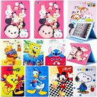 Kids Cute Cartoon Leather Smart Cover Case For iPad Mini iPad 2 3rd 4th