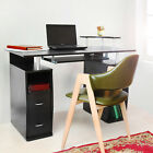 Computer Desk with Shelves Cupboard & Drawers for Home Office