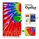( For Optus X Sleek Smart Blitz ) Flip Case Cover  A40082 Dye Tie Pattern