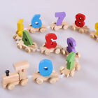 Wooden Train Numbers Personalised Digital learning For Christening Birthday Gift