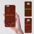 Simple Bad Brown Print Phone Back Case Cover for iPhone Samsung Galaxy Tasteful