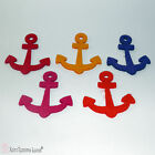 5 Pcs Felt Laser Cut Anchors 10cm for Crafts and Decoration in Many Colors