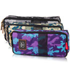 Hot Student Camouflage Pencil Pen Case Cosmetic Pocket Brush Makeup Box Bag
