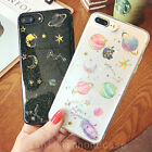 Fashion Earth Planet Bling Glitter Soft Gel Case Cover for iPhone 6/6S/7/7 Plus