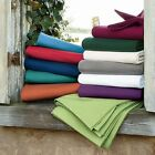 All Solid Colors 3 pc Bed Fitted Sheet Set 1000 TC Egyptian Cotton Olympic Queen