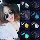 Fashion Unisex Vintage Retro Women/Men Glasses Aviator Mirror Lens Sunglasses
