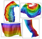 "1pc 2.7m*1.1m (9'x45"") 5/6 colors 5 mommes belly dance silk veil, rolled edges"