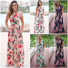 Evening Party Long Maxi Dress Women lady summer Floral Print Boho beach Dress