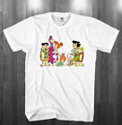 The Flintstones T-shirt funny family sitcom cartoon Shirts Adult Kids sizes image
