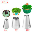1/3 PCS Steel Grass Fury Piping Pastry Icing Nozzles Cake Decorating Tip