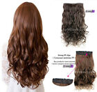 Remeehi 5 Clip in Human Hair Extensions One Piece Long Wavy Full Head Hairpieces