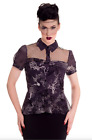 Spin Doctor Hell Bunny Goth Steampunk ALTAIRA Blouse Shirt Top 8 10 12 14 16