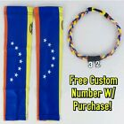 Sports Compression Arm Sleeves Baseball Venezuela Flag & Rope Necklace W/ #