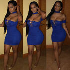 Summer Lady Bandage Bodycon Evening Cocktail Party Club Sexy-V Mini Short Dress