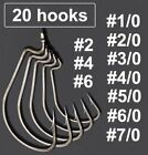 Lot 20pcs Strengthened Wide Gap Worm Fishing Hook Jig Crank Hook Bass Hook
