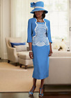 Blue Sky Jacket Dress Formal Wedding Mother of the Bride Church Size 6 8 10 12