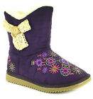 New Younger Girls/Childrens Purple Immitation Suede Fashion Boots UK SIZES