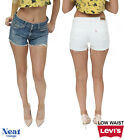 Vintage Levis Denim Short Women-Low Waisted Tailored Hotpants Various Size 6-18