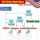 4in1 Baby High Chair Convertible Table Seat Booster Toddler Feeding Highchair US