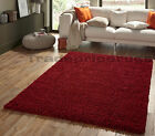 OVERSTOCK CLEARANCE. SMALL-EXTRA LARGE THICK SHAGGY SHAG PILE MID / DARK RED RUG