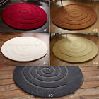 MEDIUM - LARGE THICK CHUNKY ROUND CIRCULAR CIRCLE 100% WOOL TEXTURED SPIRAL...