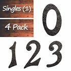 """6"""" Tall High Quality Solid Iron House Address Plaque Numeral  