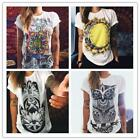 Women Summer Casual Cotton Blouse Short Sleeve Fashion Shirt T-shirt Blouse Tops